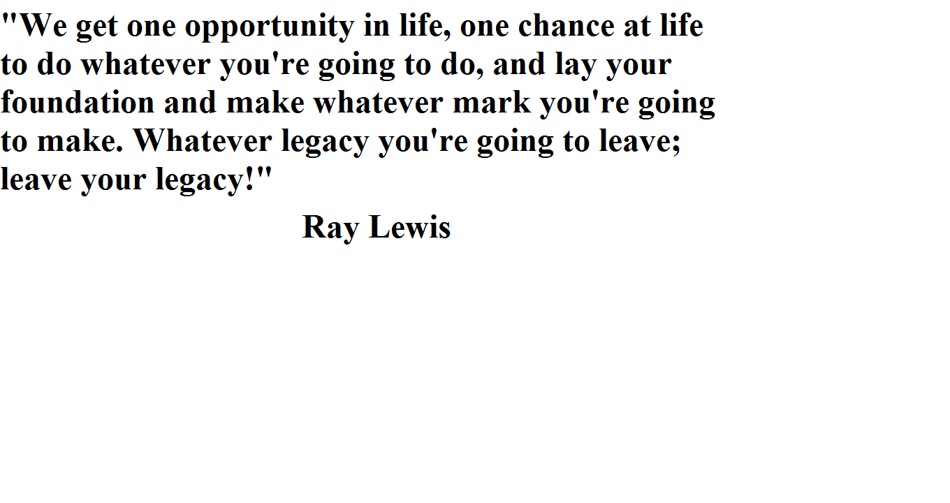 Famous Ray Lewis Football Quote: Famous Quotes From Ray Lewis. QuotesGram