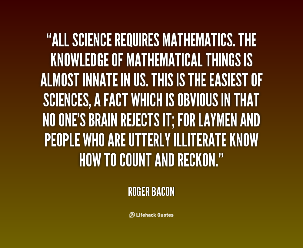 Beauty Of Math Quotes Sayings Postcard: Roger Bacon Quotes. QuotesGram