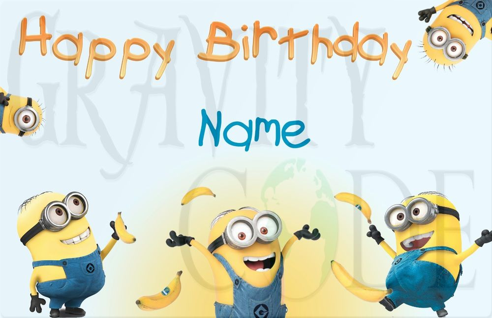 Amazing image in minion birthday cards printable