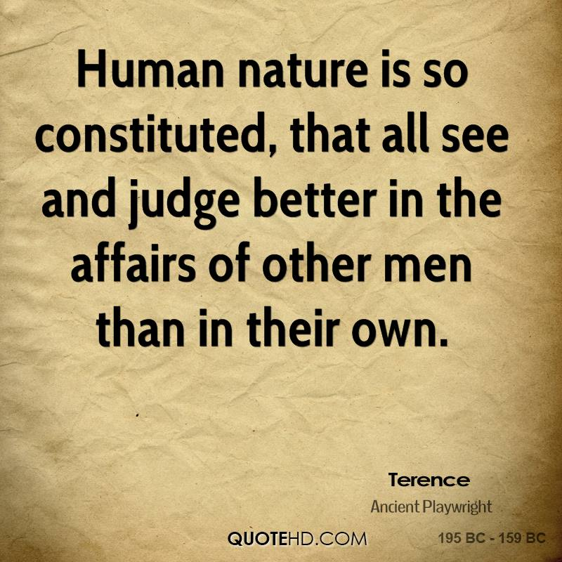 Terence Quote Human Nature