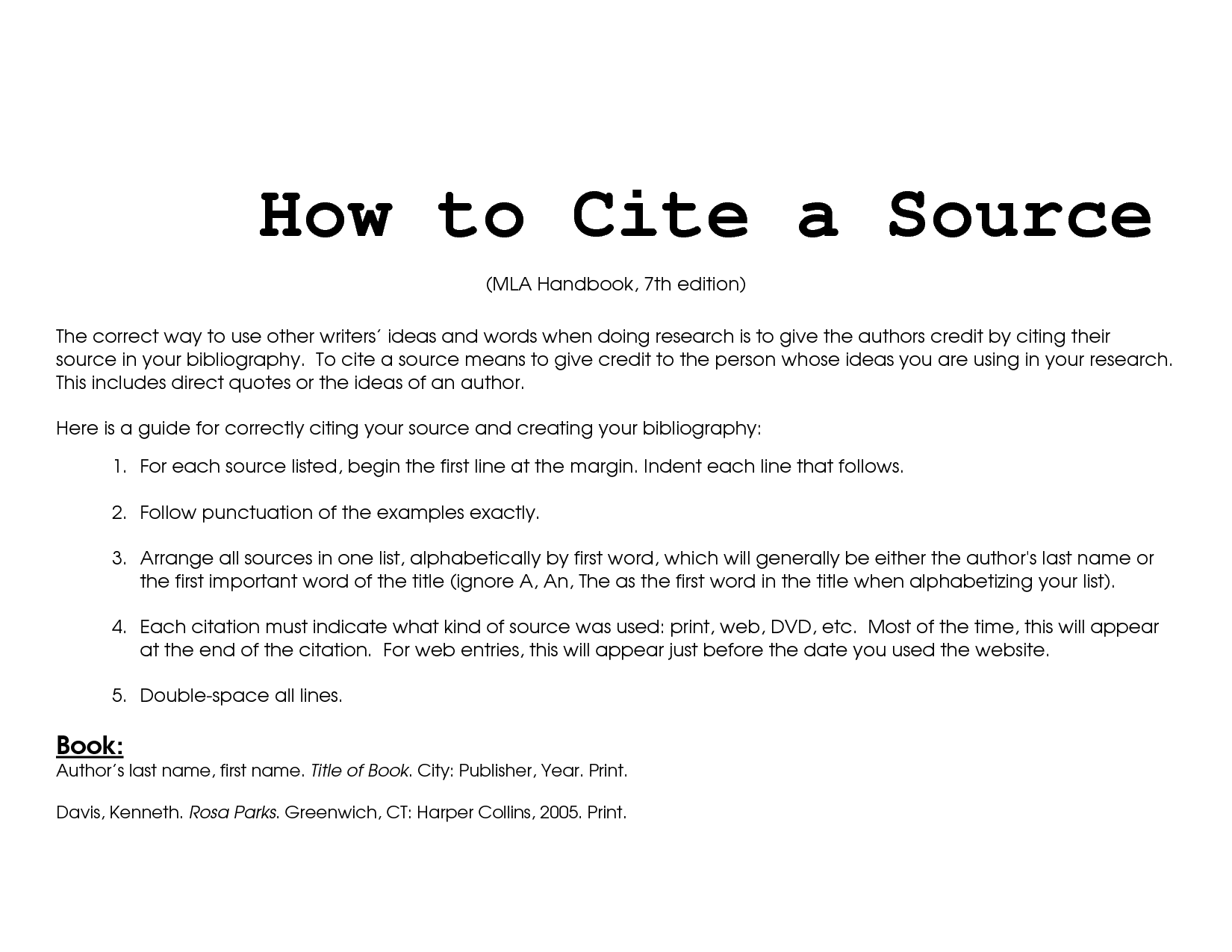 How to Cite a Website on a College Essay