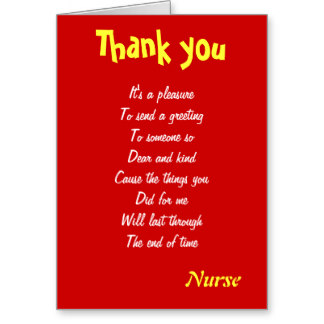 Thank You Letter For Nurses Week