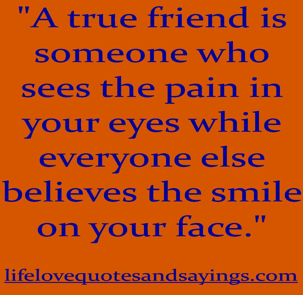 Friendships Quotes And Sayings: True Friend Quotes. QuotesGram
