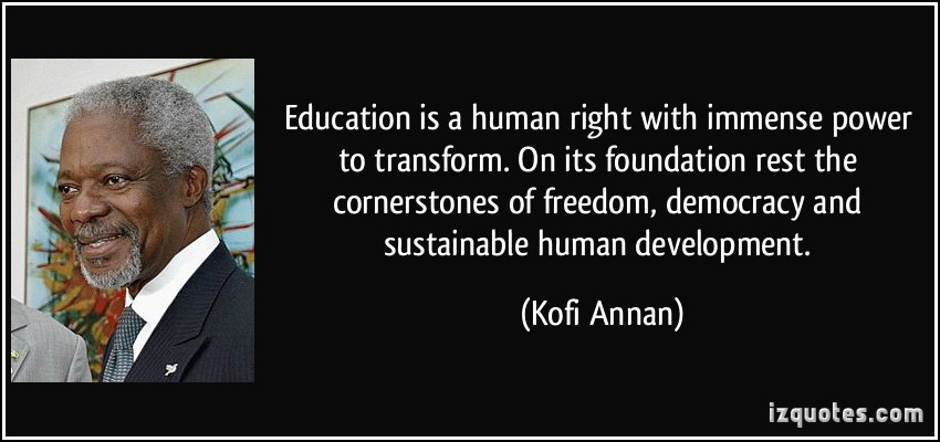 human right education Greatest challenge facing human rights education in canada 17 the teacher voice on human rights education – key messages 20 is widely considered to be integral to every child's right to a quality education, one that not only teaches reading, writing and arithmetic, but also strengthens the child's capacity to enjoy the full range of human.