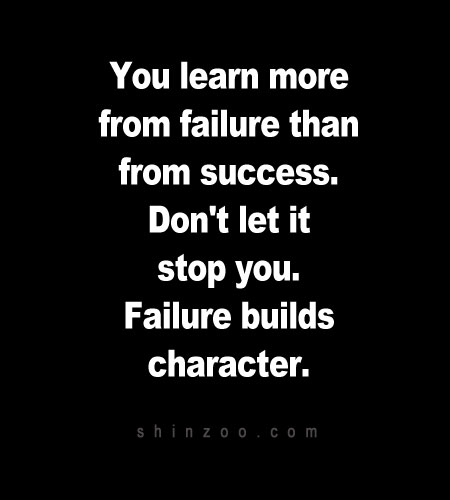 Motivational Quotes About Success: Inspirational Quotes About Learning From Failure. QuotesGram