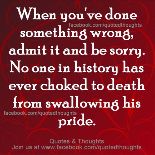 Admitting You Messed Up Quotes: Admit Your Faults Quotes. QuotesGram