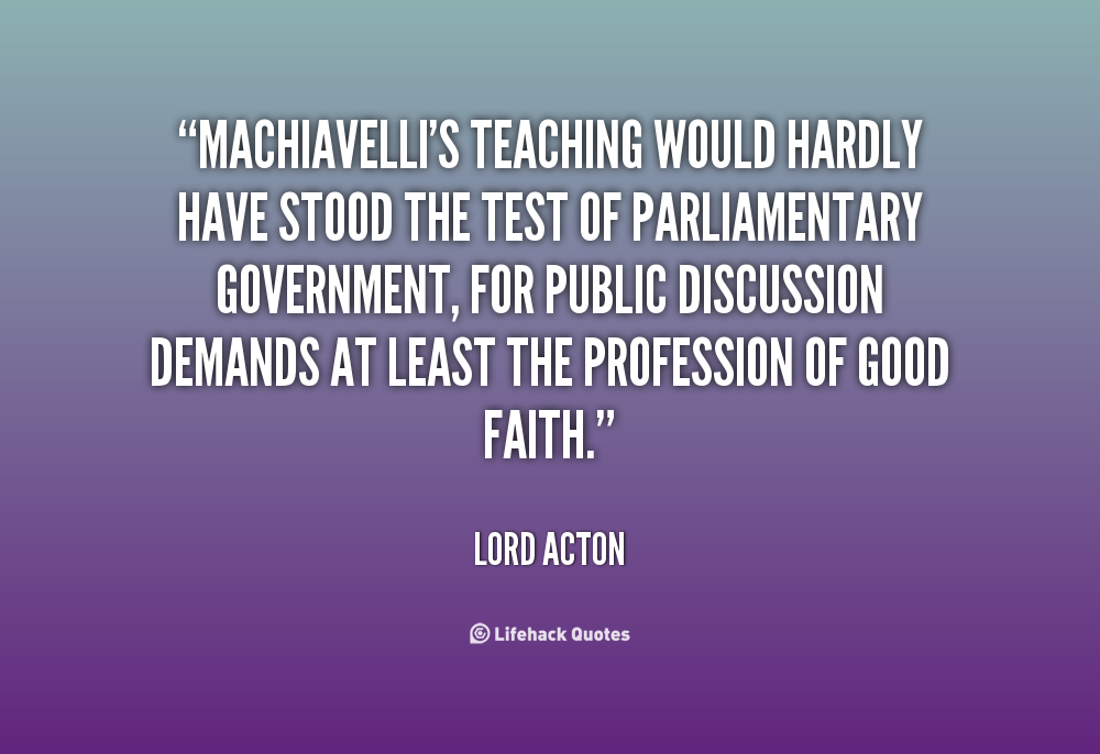 lao tzu and machiavelli on government and Ruling the state: machiavelli versus lao-tzu  he believed that in strong government control by a prince who acted more in terms of.