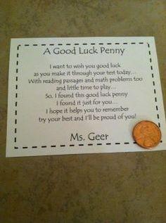 Good Luck Poems For Kids