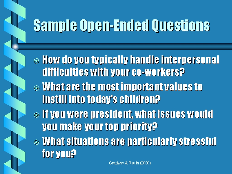 open ended questions examples pdf