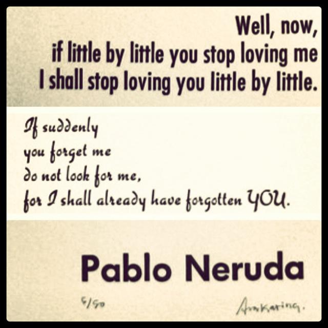 Pablo neruda poems in english love
