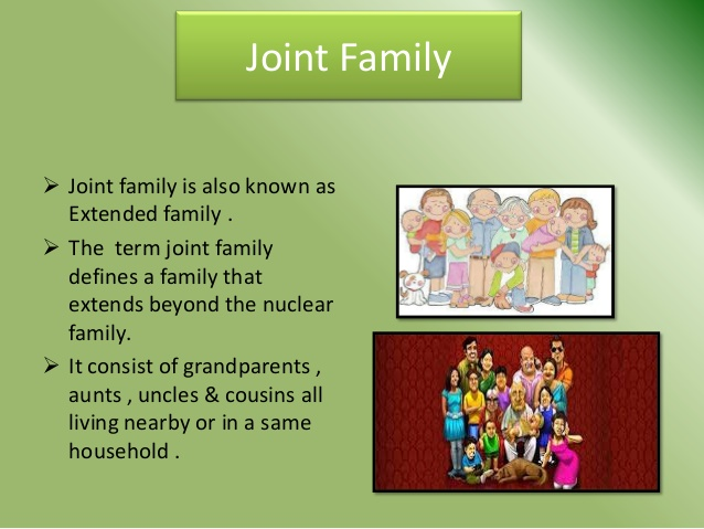 essay on joint family in india