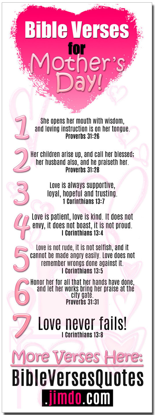 Best Bible Quotes Mothers Day Quotesgram