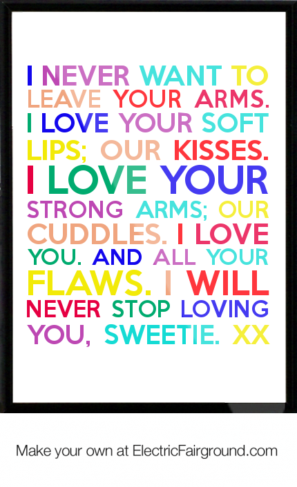 Super sweet love quotes for him