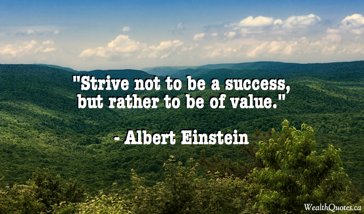 Albert Einstein Quotes Strive Not Success: Einstein Quotes About Success. QuotesGram