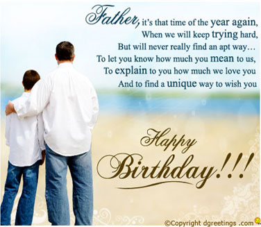 Happy Birthday Dad From Son Quotes Quotesgram