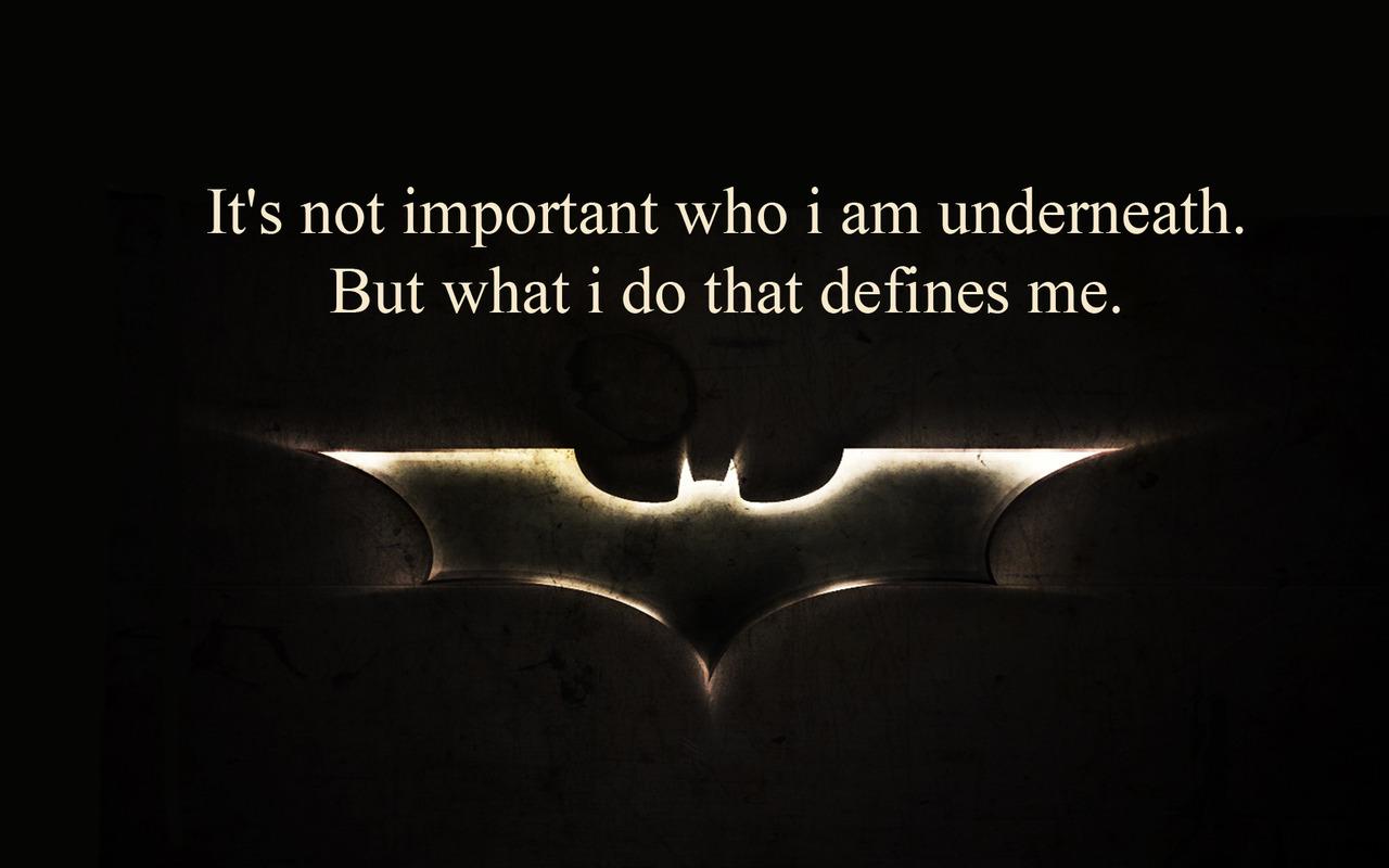 Batman begins quotes about fear