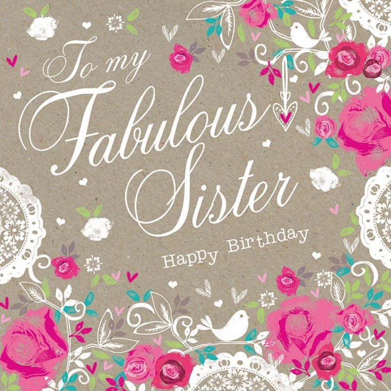 Happy Birthday To A Special Sister Quotes: Happy Birthday Sister Quotes For Facebook. QuotesGram