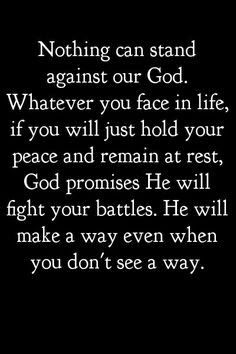 Let God Fight Your Bat...