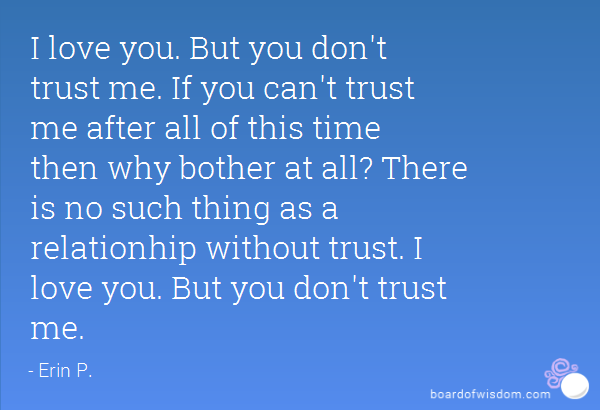 Trust with someone don t should be you you These Are