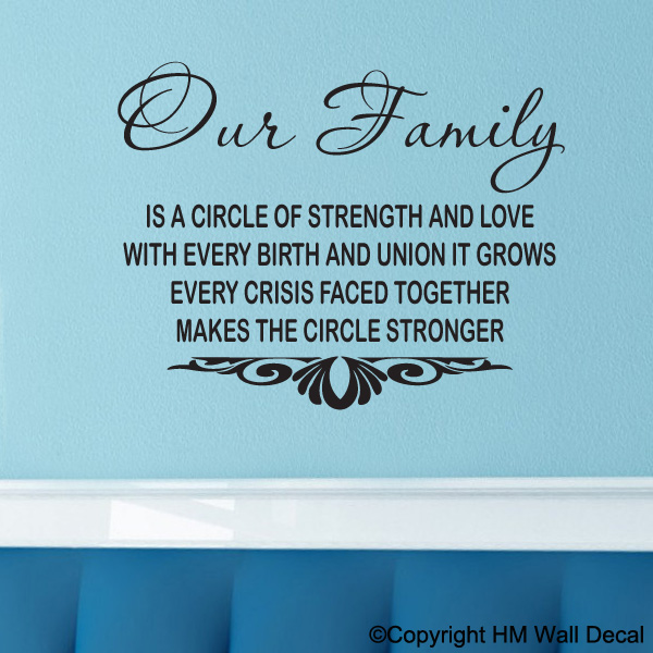 Inspirational Family Quotes: Family Wall Quotes Inspirational. QuotesGram