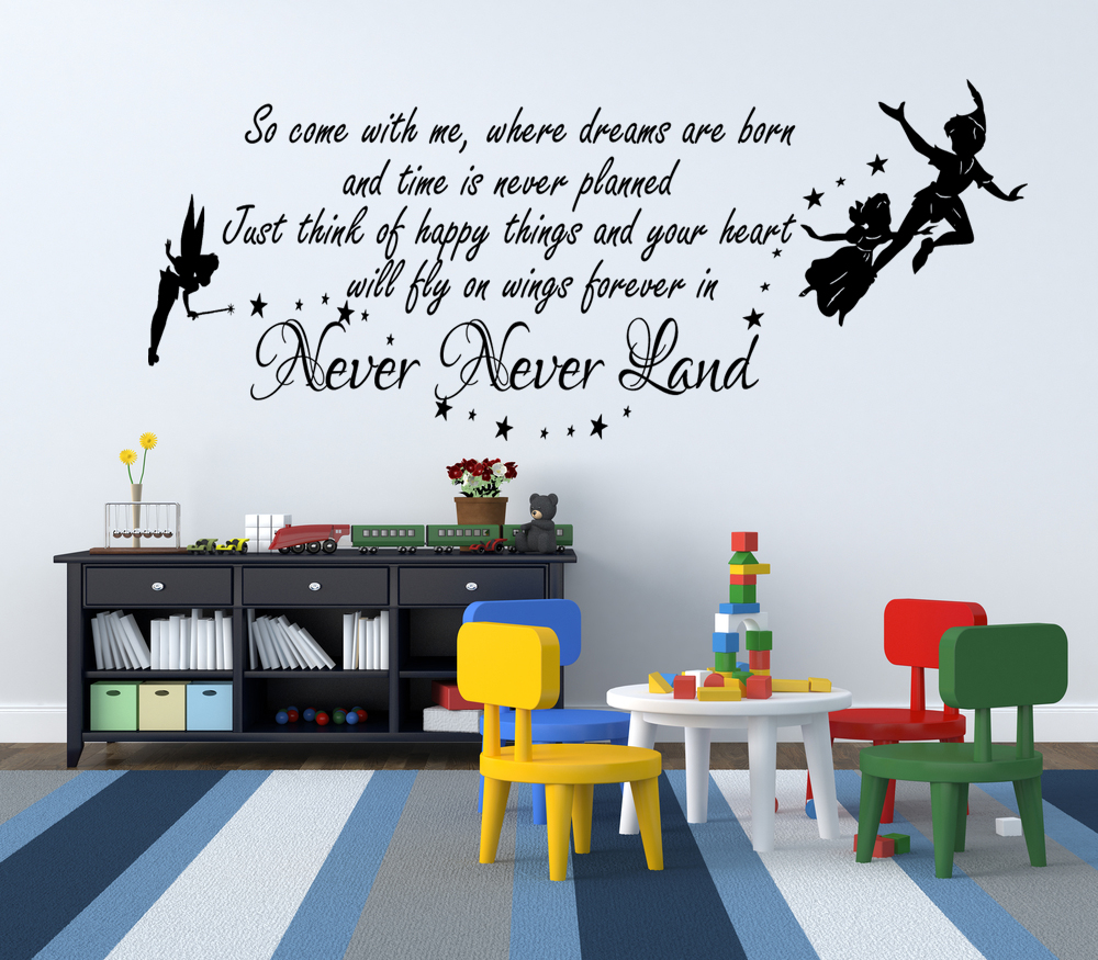 peter pan wall quotes decal quotesgram. Black Bedroom Furniture Sets. Home Design Ideas