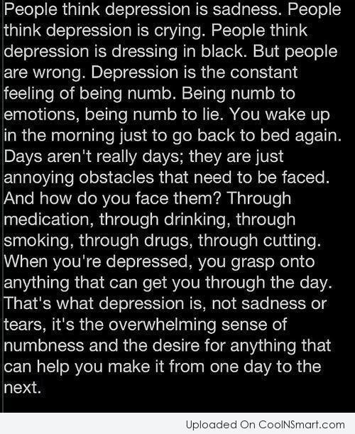 Sad Quotes About Depression: Depression Cutting Quotes. QuotesGram