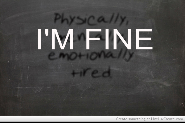 Drained physically and mentally Mental Exhaustion: