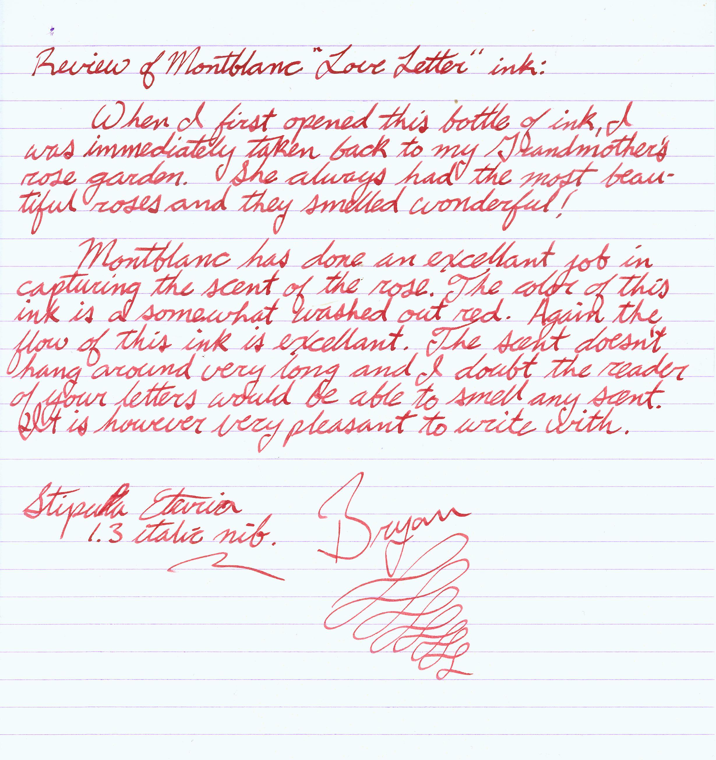 Sample romantic love letter for my husband