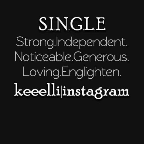 Single independent black woman