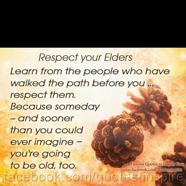 Respect older people essay