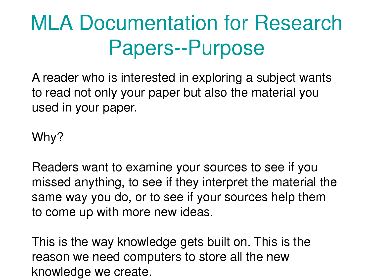 purpose of scientific research paper