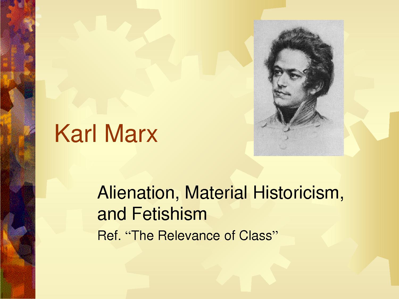 karl marx and capitalist alienation essay