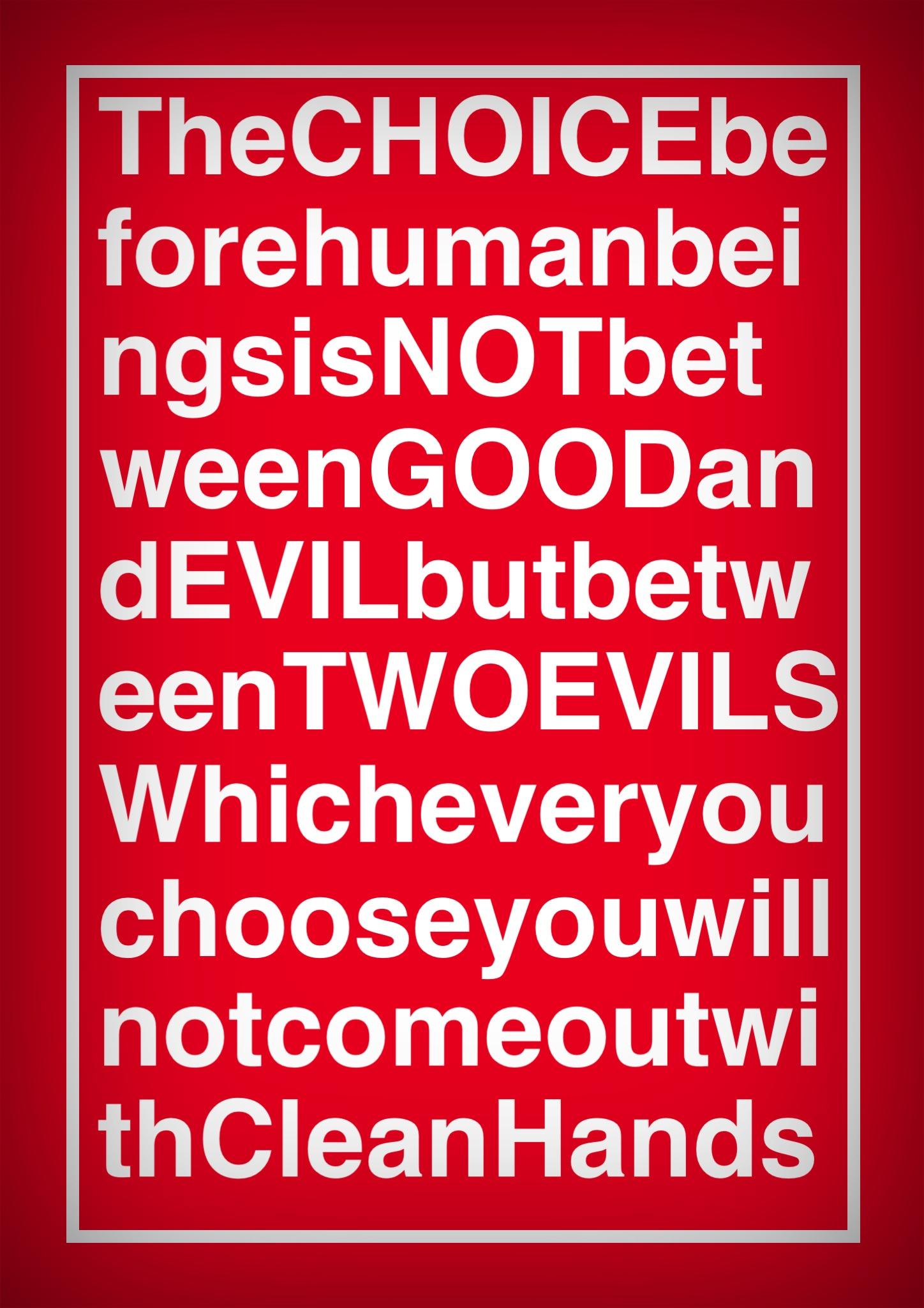 Good verses evil in day verses