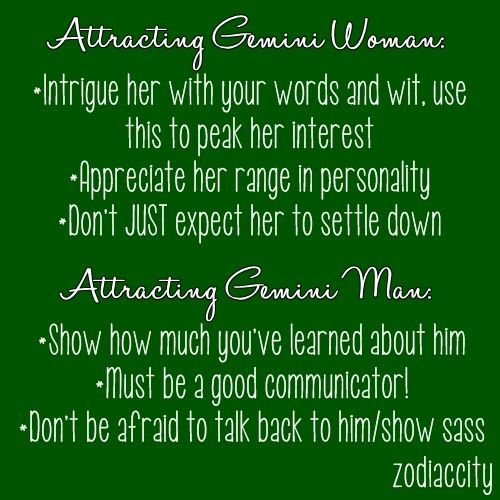 Leo woman dating gemini man