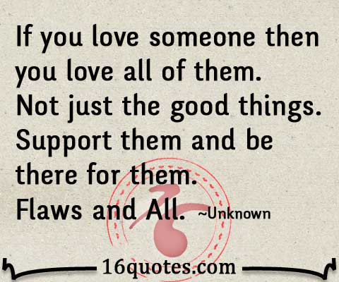 Support from love quotes