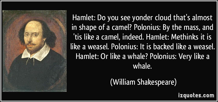 the reasons for the insanity of hamlet What's the specific job polonius gives to reynaldo that causes the most insanity/ self about the sot-jrce of hamlet's insanity that he points to.