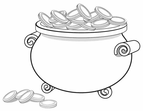 Gold Coins Coloring Pages  Printable Coloring Pages