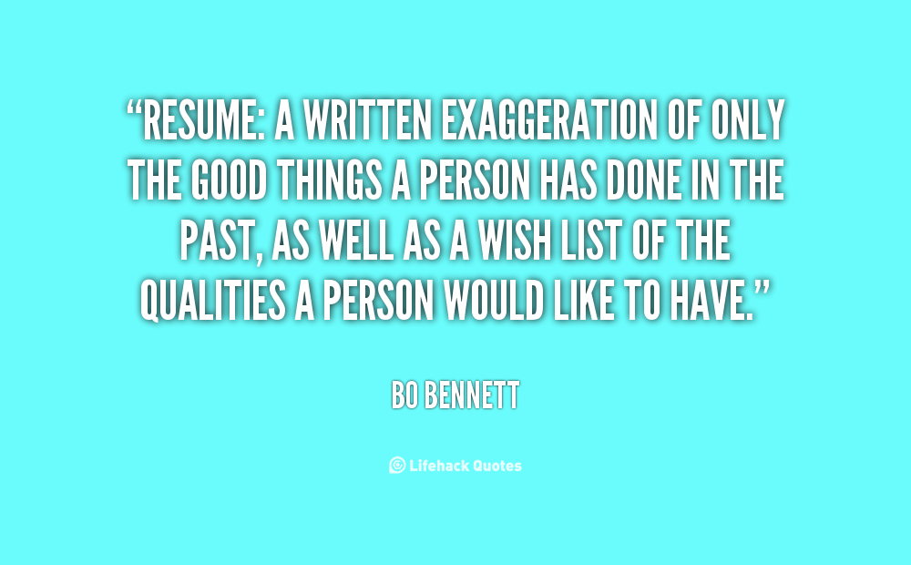 Resume Quotes Quotesgram