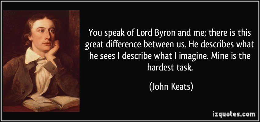 comparison between william wordsworth and john keats poetry Get an answer for 'compare and contrast william wordsworth's line written a few miles above tintern abbey and john keat's  style of his poem keats,.