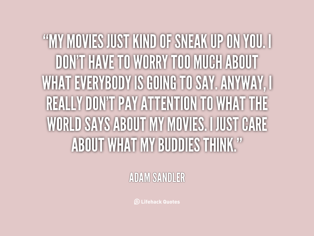 Adam sandler love quotes