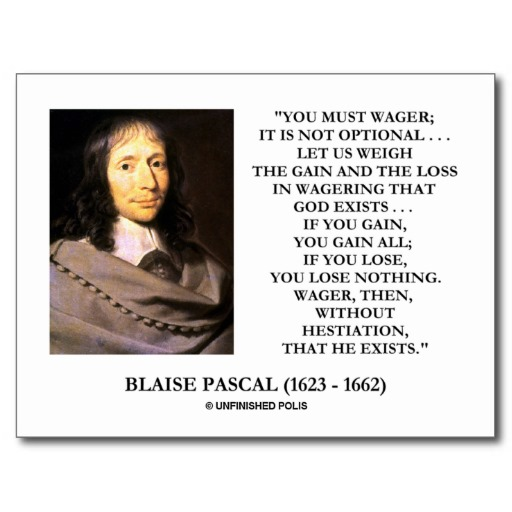 criticism of pascals wager essay A critical look at pascal's wager, the argument that belief in god is rational whether or not there is evidence for god's existence, because it is in our interests to believe.
