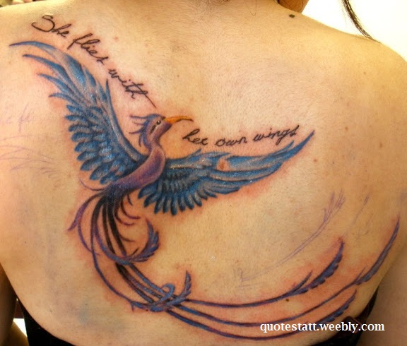 Tattoo Quotes Gallery: Phoenix Bird Quotes Sayings. QuotesGram