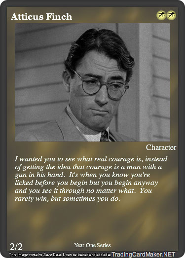 atticus in to kill a mockingbird Free essay: throughout harper lee's novel to kill a mockingbird, it seems as if atticus finch is a failure as both a parent and a lawyer however, somebody.