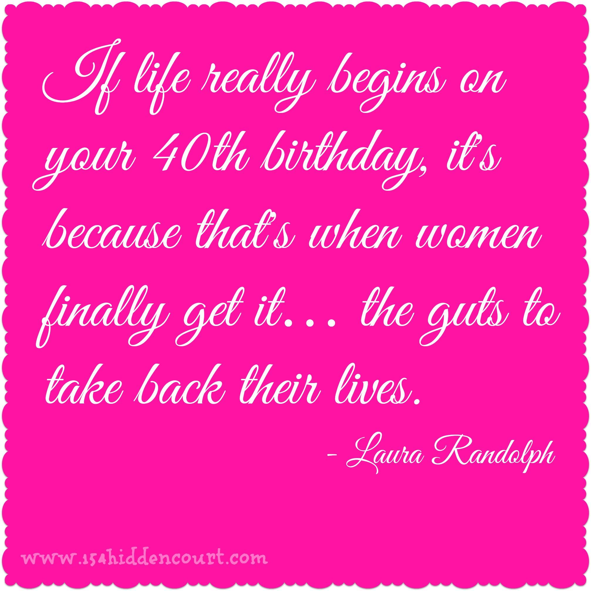 40th Birthday Quotes. QuotesGram