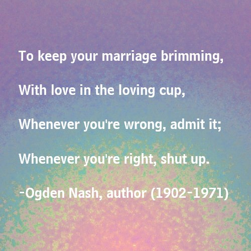 Funny Marriage Advice Quotes Quotes For Newlyweds M...