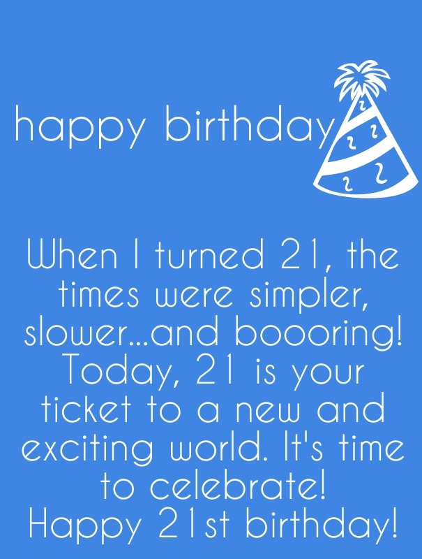 Happy 21st Birthday Quotes. QuotesGram