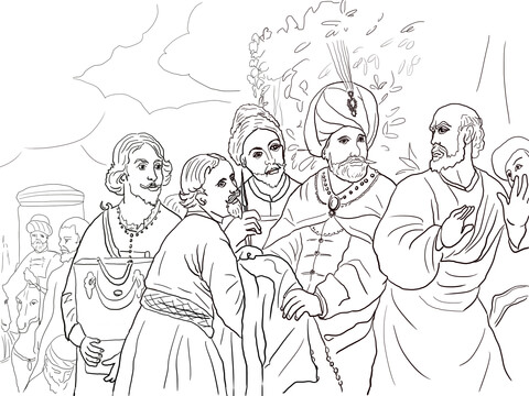 Elisha and Naaman Coloring Page – 10 Minutes of Quality Time | 360x480