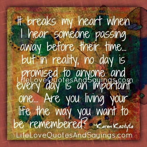 When Someone Passed Away Love Quotes And Sayings. QuotesGram
