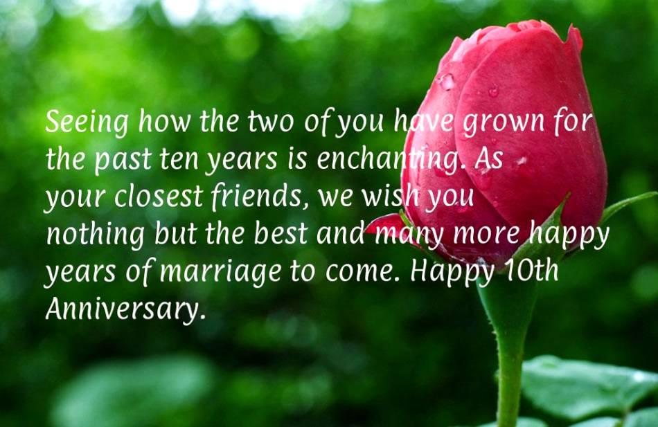 41 Year Anniversary Quotes: 10 Year Anniversary Quotes Happy. QuotesGram