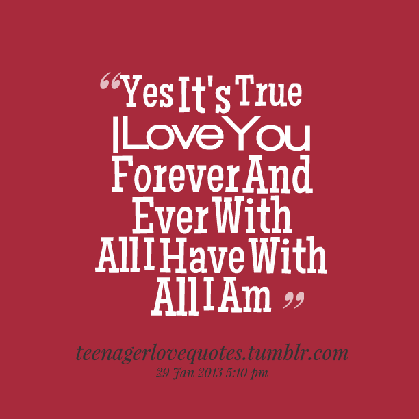 I Love You Quotes: Forever And Ever Quotes. QuotesGram